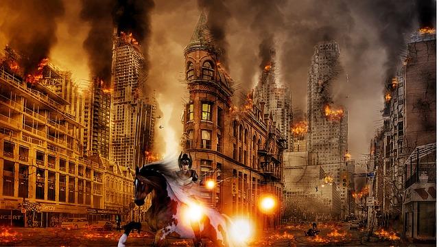 SHTF - Armageddon ist im Anmarsch? Foto mit Reiter der Apokalypse.